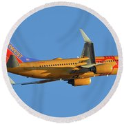Southwest Boeing 737-7h4 N781wn New Mexico One Phoenix Sky Harbor November 11 2017 Round Beach Towel