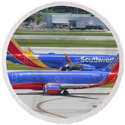 Southwest By Southwest Round Beach Towel