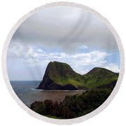 Round Beach Towel featuring the photograph Southwest Coast Of Maui by Patricia Griffin Brett