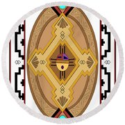 Southwest Collection - Oval Design Round Beach Towel