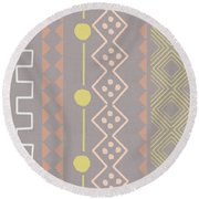 Southwest Decorative Design 7- Art By Linda Woods Round Beach Towel