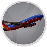 Southwest Departure Round Beach Towel