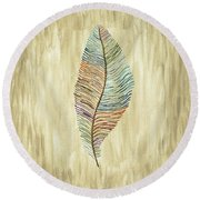 Southwest Feather Round Beach Towel