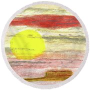 Southwest Moment Round Beach Towel by R Kyllo