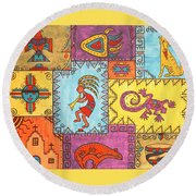 Southwest Sampler Round Beach Towel by Susie WEBER