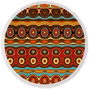 Southwestern Colors Pattern Round Beach Towel by Jessica Wright
