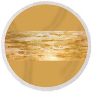 Southwestern Sunset Round Beach Towel