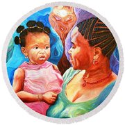 Sowing And Reaping Round Beach Towel by Bankole Abe