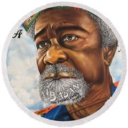 Soyinka An African Literary Icon Round Beach Towel