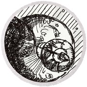 Space 1 2015 - Aceo Round Beach Towel