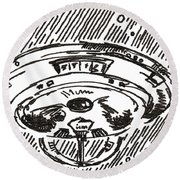 Space 2 2015 - Aceo Round Beach Towel