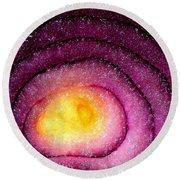 Space Allium Round Beach Towel
