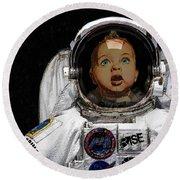 Space Baby Round Beach Towel