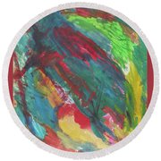 Space Bug Round Beach Towel
