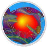 Space Fabric Round Beach Towel by Kevin Caudill