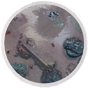 Space Junk Round Beach Towel by Robert Margetts