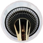 Space Needle- By Linda Woods Round Beach Towel