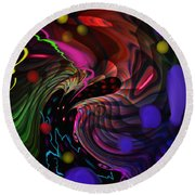 Space Rocks Round Beach Towel by Kevin Caudill