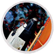 Space Shuttle Round Beach Towel