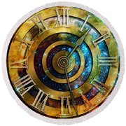 Space Time Round Beach Towel