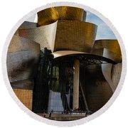 The Guggenheim Museum Spain Bilbao  Round Beach Towel