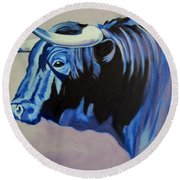 Spanish Bull Round Beach Towel