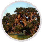 Spanish Moss Round Beach Towel by David Pantuso
