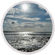 Spanish Point  Round Beach Towel