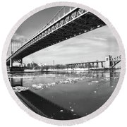 Spanning Bridges Round Beach Towel