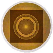 Round Beach Towel featuring the photograph Spare by Larry Bishop