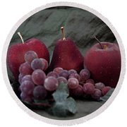 Round Beach Towel featuring the photograph Sparkeling Fruits by Sherry Hallemeier