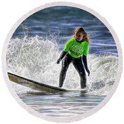 Sparkle Surf Round Beach Towel