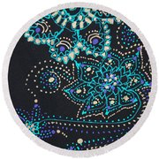 Midnite Sparkle Round Beach Towel