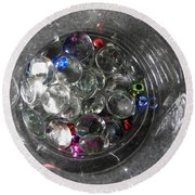 Sparkles Round Beach Towel by Betty-Anne McDonald