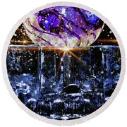Sparkling Glass Round Beach Towel