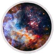 Sparkling Star Cluster Westerlund 2 Round Beach Towel