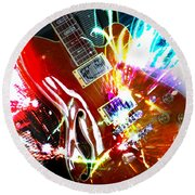 Round Beach Towel featuring the photograph Sparks Fly by LemonArt Photography