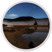 Round Beach Towel featuring the photograph Sparks Lake At Dawn by Cat Connor