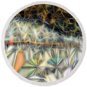 Round Beach Towel featuring the digital art Sparks by Ron Bissett