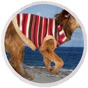 Sparky Round Beach Towel by Al Bourassa