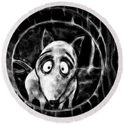 Sparky Round Beach Towel