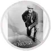 Speakeasy Directions - Prohibition 1925 Round Beach Towel