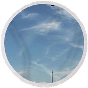 Special Day-hand From Heaven  Round Beach Towel