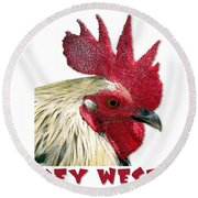 Special Edition Key West Rooster Round Beach Towel