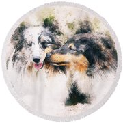 Special Kisses Round Beach Towel