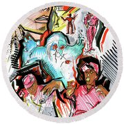 special project 1A Round Beach Towel