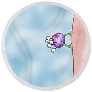 Speck Round Beach Towel by Uncle J's Monsters