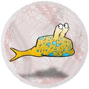 Speckle Round Beach Towel by Uncle J's Monsters