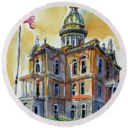Spectacular Courthouse Round Beach Towel