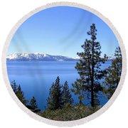 Spectacular Lake Tahoe Round Beach Towel